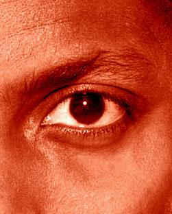 ojo de hombre